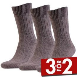 Amanda Christensen Strumpor 3P Supreme Wool Sock Brun Strl 39/42