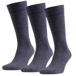 Amanda Christensen Strumpor 3P True Combed Cotton Sock Antracit Strl 43/46