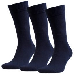 Amanda Christensen Strumpor 3P True Combed Cotton Sock Marin Strl 39/42
