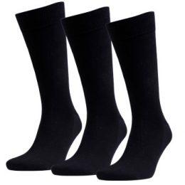 Amanda Christensen Strumpor 3P True Combed Cotton Sock Svart Strl 39/42