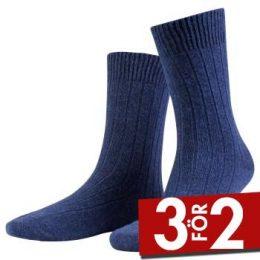 Amanda Christensen Strumpor Supreme Wool Sock Mörkblå Strl 39/42