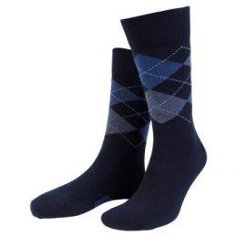 Amanda Christensen Strumpor True Ankle Argyle Sock Marin/Blå Strl 39/42 Herr
