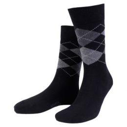 Amanda Christensen Strumpor True Ankle Argyle Sock Svart/Grå Strl 43/46 Herr