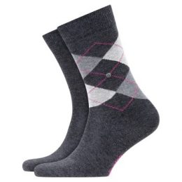 Burlington Strumpor 2P Everyday Mix Cotton Sock Mörkgrå Strl 36/41 Herr