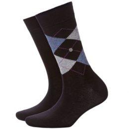 Burlington Strumpor 2P Everyday Mix Cotton Sock Svart/Blå Strl 36/41 Herr