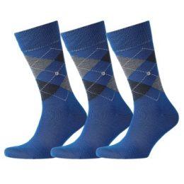 Burlington Strumpor 3P Edinburgh Wool Sock Blå Strl 40/46 Herr