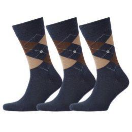 Burlington Strumpor 3P Edinburgh Wool Sock Blå/Brun Strl 40/46 Herr