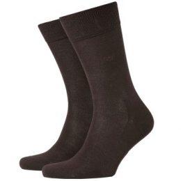 Burlington Strumpor Dublin Cotton Sock Mörkbrun bomull Strl 40/46 Herr