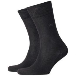 Burlington Strumpor Dublin Cotton Sock Mörkgrå bomull Strl 40/46 Herr