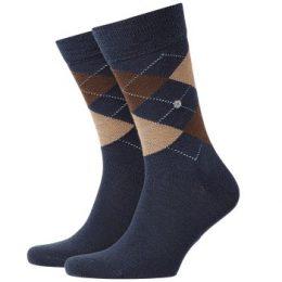 Burlington Strumpor Edinburgh Wool Sock Blå/Brun Strl 40/46 Herr