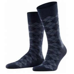 Burlington Strumpor Leyton Wool Sock Marin Strl 40/46 Herr
