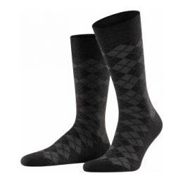 Burlington Strumpor Leyton Wool Sock Svart Strl 40/46 Herr