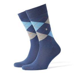 Burlington Strumpor Manchester Mercerised Cotton Sock Blå merceriserad bomull Strl 40/46 Herr