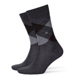 Burlington Strumpor Manchester Mercerised Cotton Sock Grå merceriserad bomull Strl 40/46 Herr