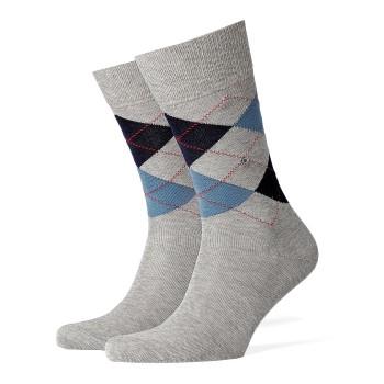 Burlington Strumpor Manchester Mercerised Cotton Sock Ljusgrå merceriserad bomull Strl 40/46 Herr