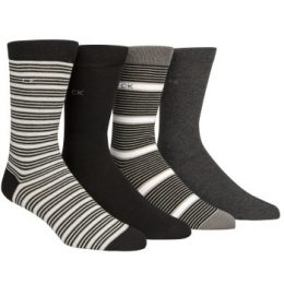 Calvin Klein 4-pack Kyler Striped Socks Gift Tin