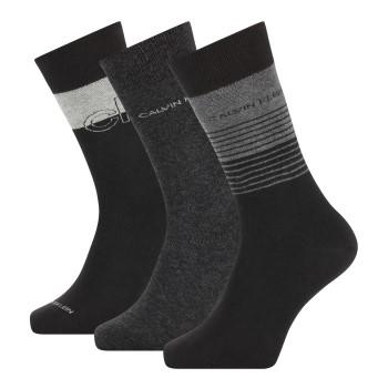 Calvin Klein Strumpor 3P Sawyer Crew Sock Svart/Grå Strl 40/46 Herr