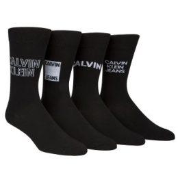 Calvin Klein Strumpor 4P Elroy Logo Crew Socks Gift Box Svart Strl 40/46 Herr