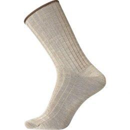 Egtved Strumpor Wool No Elastic Rib Socks Beige Strl 40/45