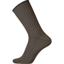 Egtved Strumpor Wool No Elastic Rib Socks Mörkbrun Strl 40/45