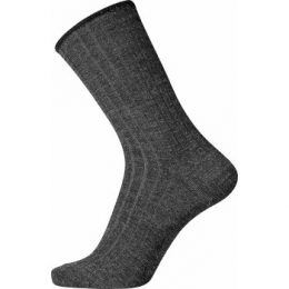 Egtved Strumpor Wool No Elastic Rib Socks Mörkgrå Strl 40/45