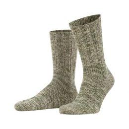 Falke Strumpor Brooklyn Sock Grön ekologisk bomull Strl 39/42 Herr