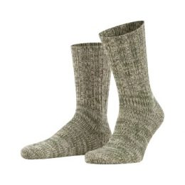 Falke Strumpor Brooklyn Sock Grön ekologisk bomull Strl 43/46 Herr