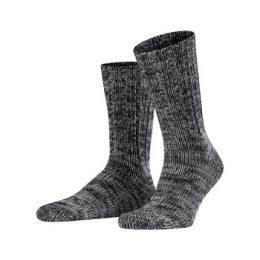 Falke Strumpor Brooklyn Sock Svart ekologisk bomull Strl 43/46 Herr