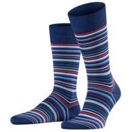 Falke Strumpor Microblock Socks Mörkblå bomull Strl 45/46 Herr