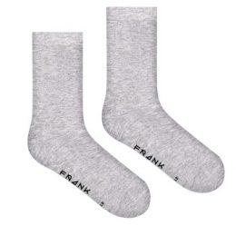 Frank Dandy Strumpor Bamboo Socks Solid Gråmelerad Strl 41/46