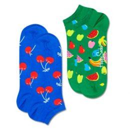 Happy socks Strumpor 2P Fruit Low Socks Blå/Grön bomull Strl 36/40