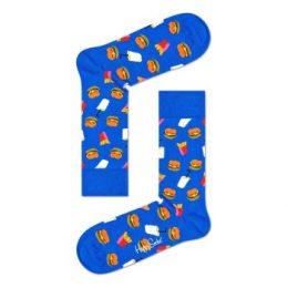 Happy socks Strumpor Hamburger Sock Blå bomull Strl 36/40