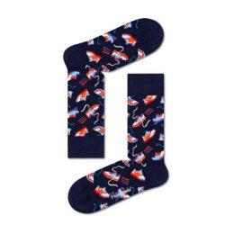 Happy socks Strumpor Run For It Sock Blå Mönstrad bomull Strl 41/46