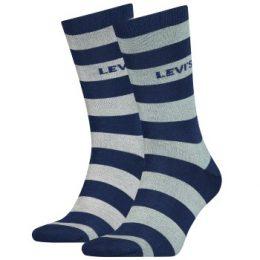 Levis Strumpor 2P Rugby Stripe Regular Socks Blå Strl 43/46