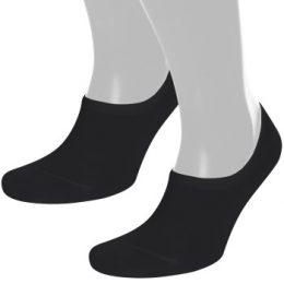 Pierre Robert Strumpor 2P Cotton No Show Sock Svart Strl 41/45