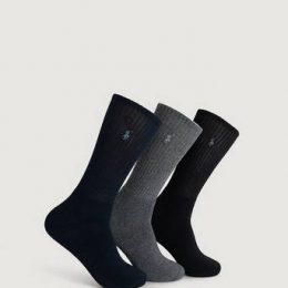 Polo Ralph Lauren 3-Pack Strumpor Crew Socks Multi