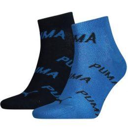 Puma Strumpor 2P BWT Quarter Sock Blå Strl 35/38