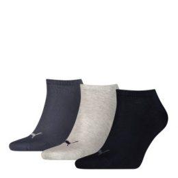 Puma Strumpor 3P Sneaker Socks Marin/Grå Strl 39/42