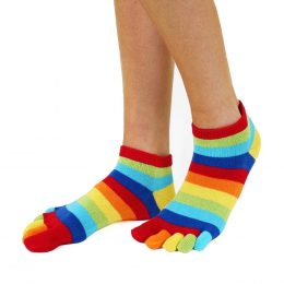 ToeToe Essential Anklet - Ankelhöga Tåstrumpor, regnbåge