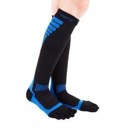 ToeToe Sports Compression - knähöga tåstrumpor, blå/svart