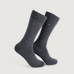 Tommy Hilfiger 2-Pack TH Men Small Sock 2P Grå