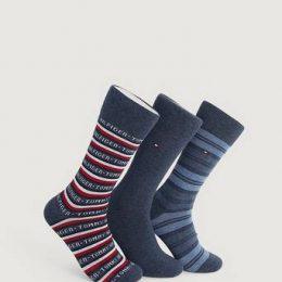 Tommy Hilfiger 3-Pack Strumpor TH Men Sock 3P Giftbox TO Blå