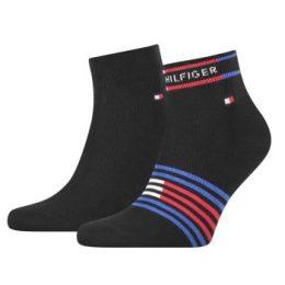 Tommy Hilfiger Strumpor 2P Men Breton Quarter Sock Svart Strl 39/42 Herr