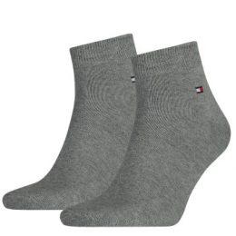 Tommy Hilfiger Strumpor 2P Men Quarter Sock Grå Strl 39/42 Herr