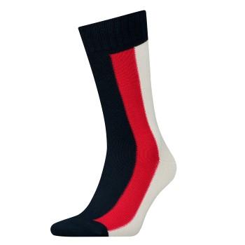 Tommy Hilfiger Strumpor Men Iconic Global Sock Randiga bomull Strl 43/46 Herr