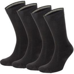 Topeco Strumpor 4P Men Socks Plain Bamboo Svart Strl 41/45 Herr