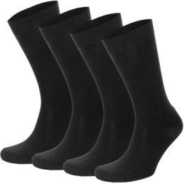 Topeco Strumpor 4P Men Socks Plain Svart Strl 41/45 Herr