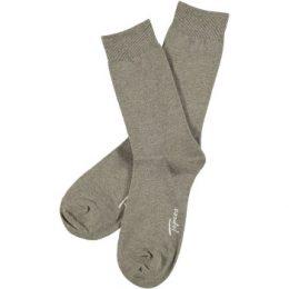 Topeco Strumpor Men Classic Socks Plain Ljusbrun Strl 41/45 Herr