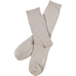Topeco Strumpor Men Classic Socks Plain Sand Strl 41/45 Herr