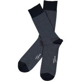 Topeco Strumpor Men Sock Mercerized Cotton Dots Marin Strl 41/45 Herr